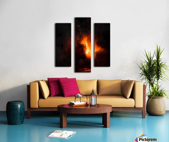 Lava explosion Canvas print