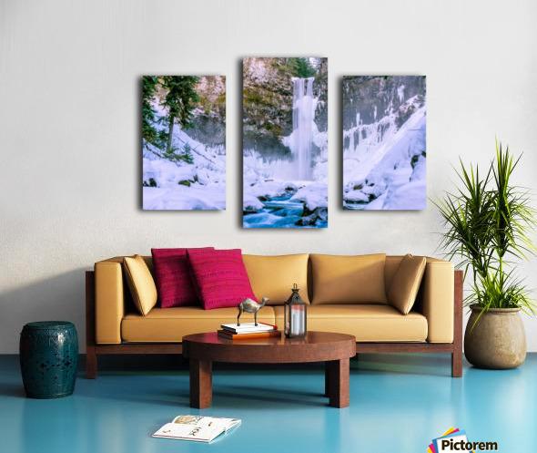 Semi frozen falls Canvas print