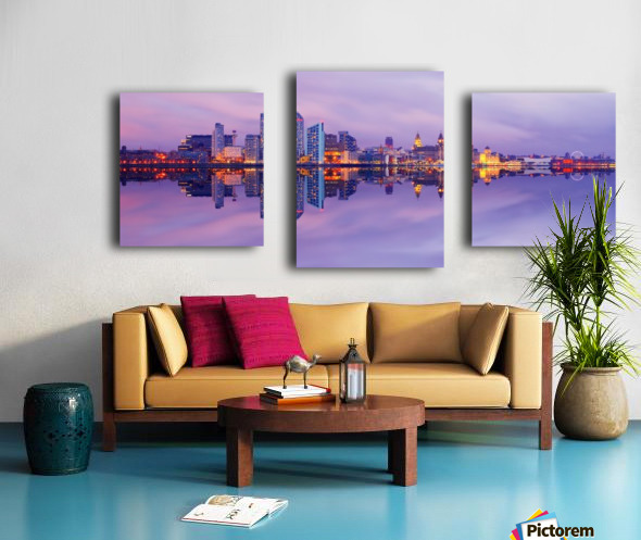 LIV 007 Liverpool Skyline   PANORAMIC Canvas print