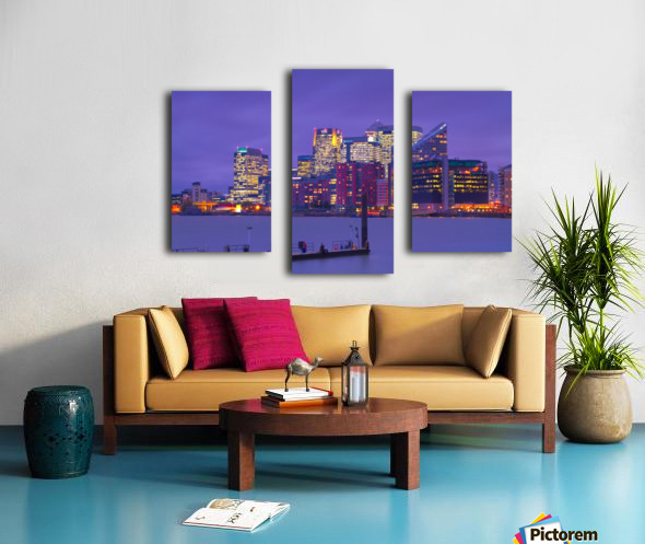 LON 007 Canary Wharf  Canvas print