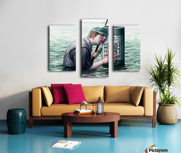 Call for fish by Krzysztof Grzondziel Canvas print