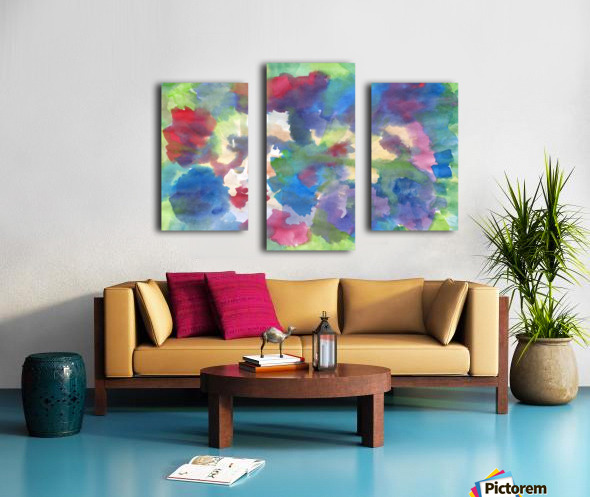 Watercolor abstraction with a blurred floral pattern Canvas print