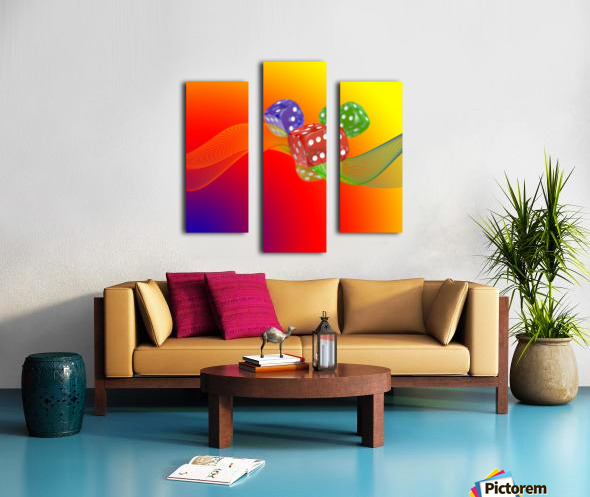 Dice 2 Canvas print