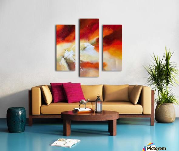 Feeling the heat Canvas print