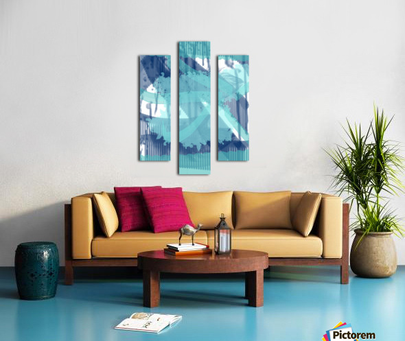 WATERCOLOR_BLUE ABSTRACKT Canvas print