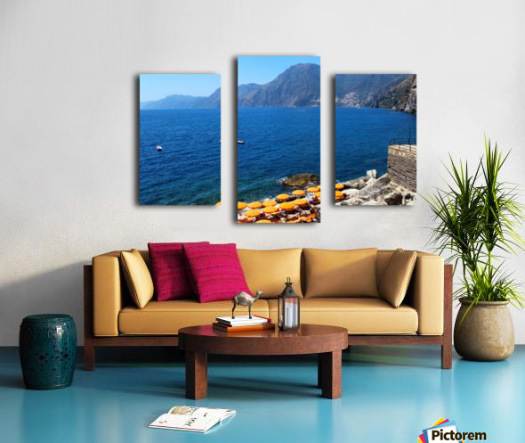 Praiano Beach - Amalfi Coast Canvas print