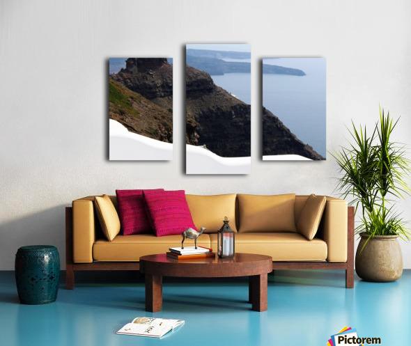 Skaros Rock - Santorini Canvas print