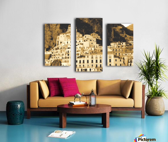 Landscape - Amalfi Village - Italy Canvas print