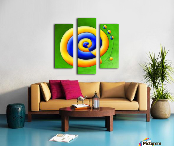 Neosmirana - running space snail Canvas print