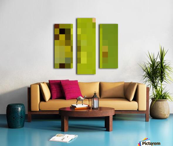 KIWI MOSAIC PATTERN Canvas print