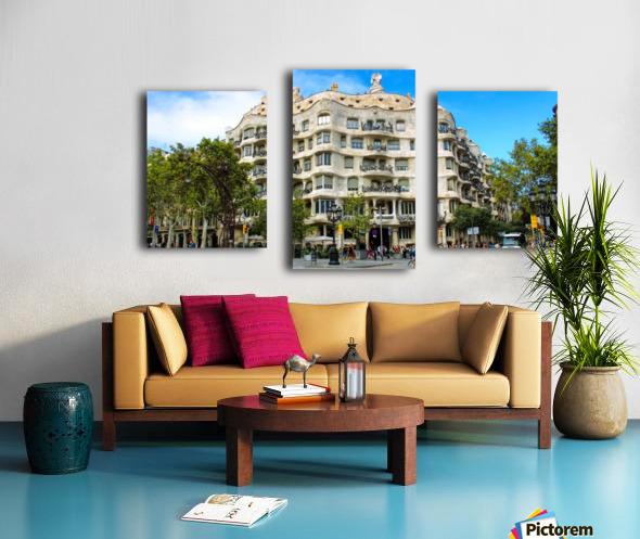 Spain Landscape - Casa Battlo   Canvas print