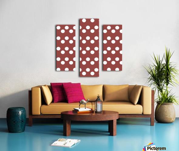 Chili Oil Polka Dots Canvas print