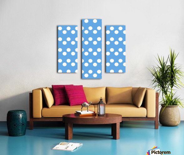 CORNFLOWER Polka Dots Canvas print