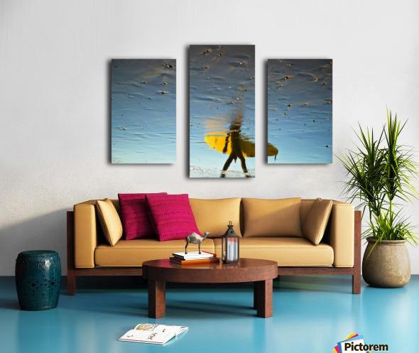 YELLOW SURFER Canvas print