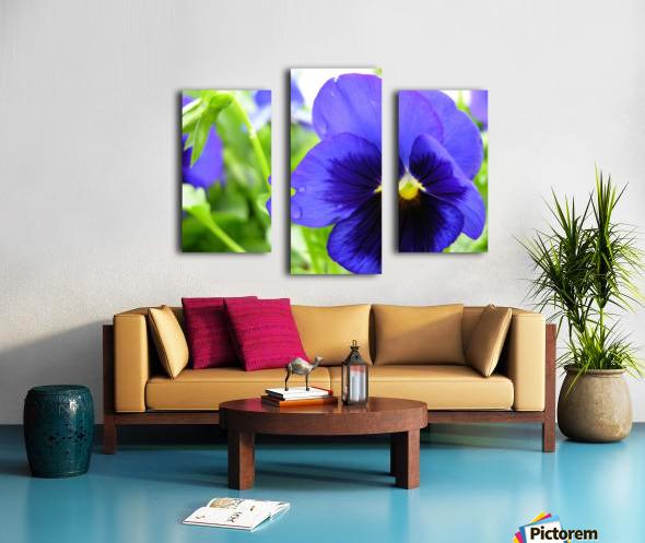 Blue Flowers Photograph Canvas print