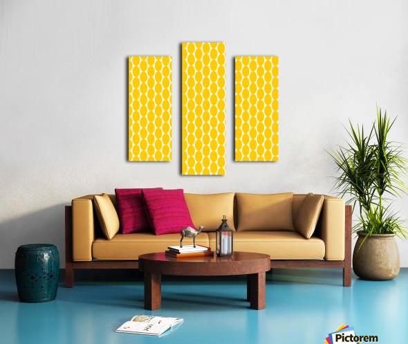 Yellow  egg shape Canvas print