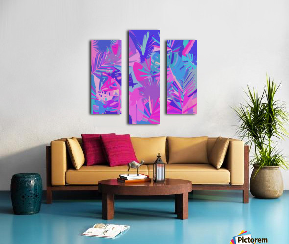 Tropical Leaves Abstract  Canvas print