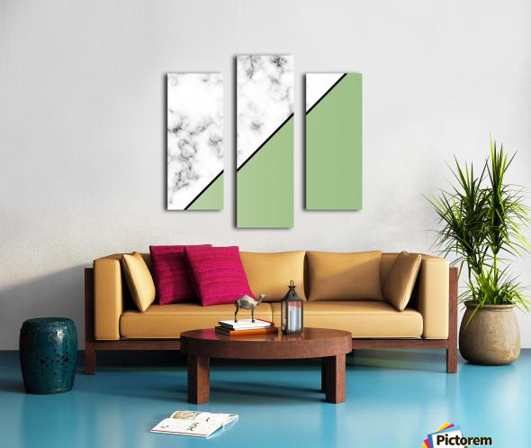 ABSTRACT MODERN YELLOW GREEN MARBLE Canvas print