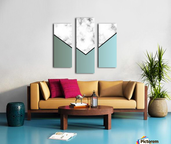 ABSTRACT GRAYISH BLUE MODERN MARBLE Canvas print
