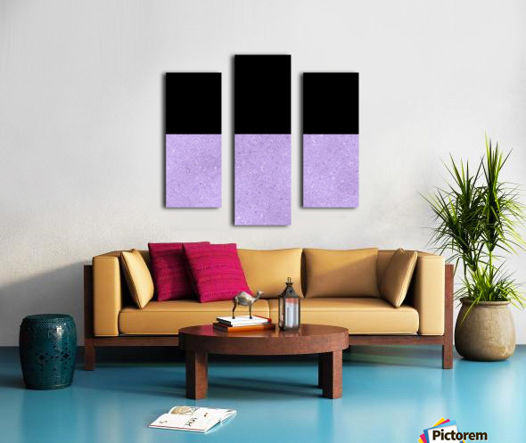 ABSTRACT PURPLE GLITTER Canvas print