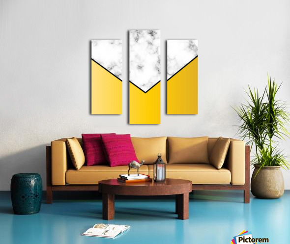 ABSTRACT YELLOW PASTEL MODERN MARBLE Canvas print