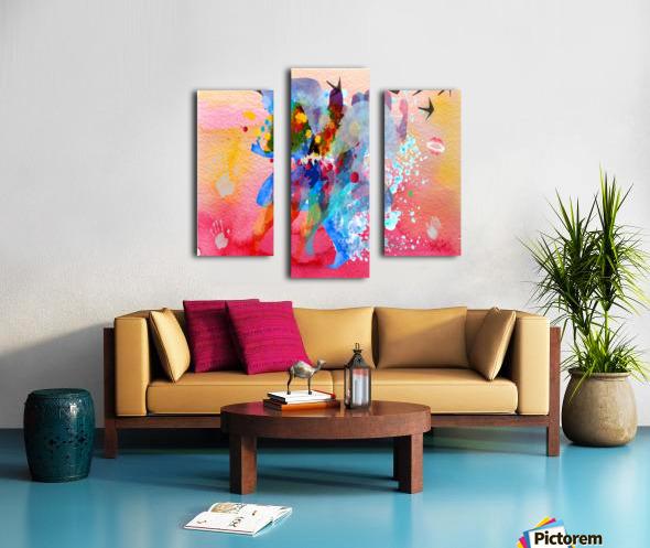 run through Duality of mind  Canvas print