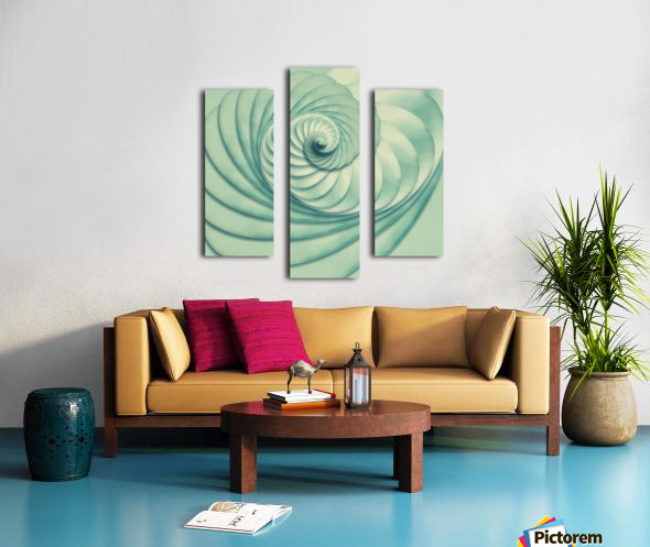 Composition in Celadon Canvas print