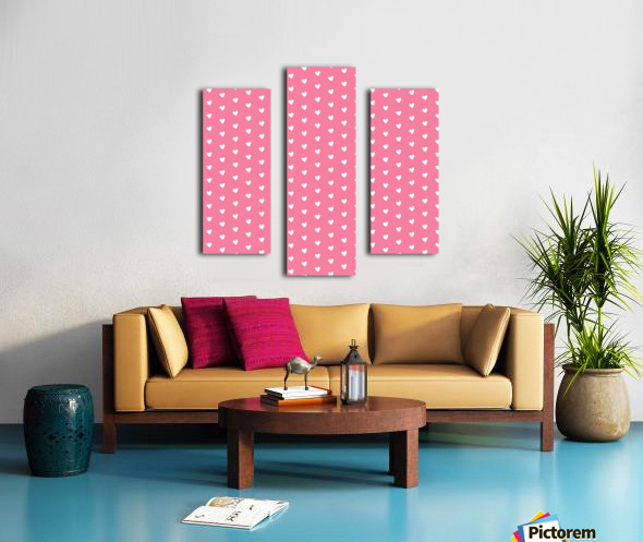 Pink Sherbet Heart Shape Pattern Canvas print