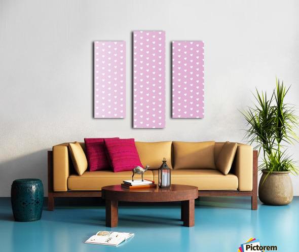 Spring Pink Heart Shape Pattern Canvas print