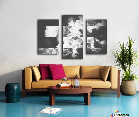 Flower Bells Collage BnW Canvas print
