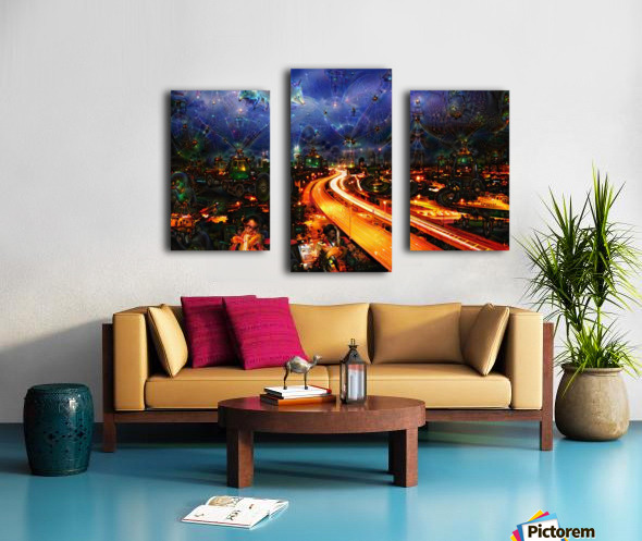 Midnight at the Ol Races Canvas print