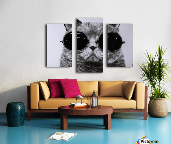 The Cat with glasses Canvas print