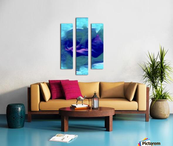 Flora of Paint Canvas print