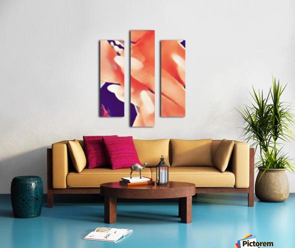 Desires in Peach Canvas print