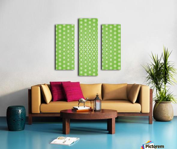 Yellow Green Pearl Pattern Canvas print