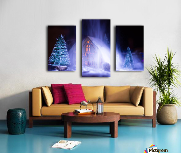 Christmas is coming Canvas print