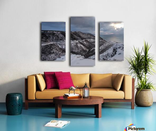 Snowy Skyline Canvas print