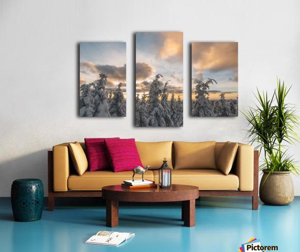 Winter sky Impression sur toile