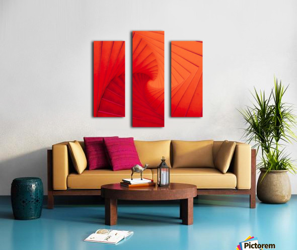 Composition Vermillon Canvas print