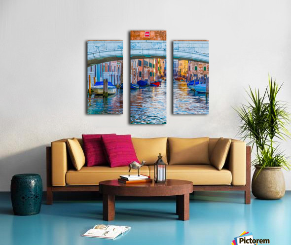 Afternoon Light in Venice Canal Canvas print