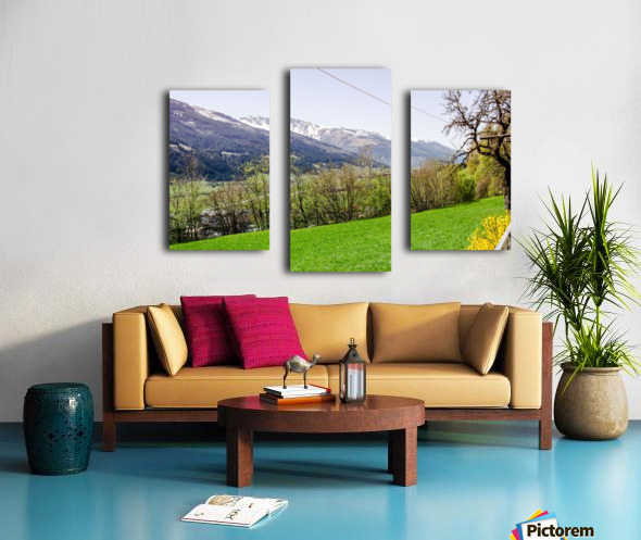 Niedernsill Landscape Austrian Alps Canvas print