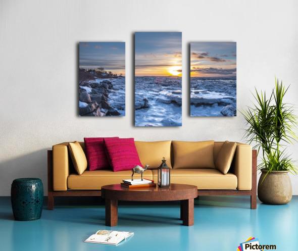 Winter contrast Impression sur toile