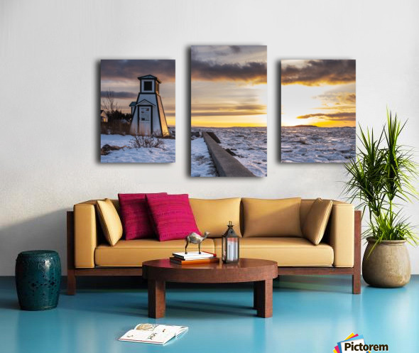 A winter evening Canvas print