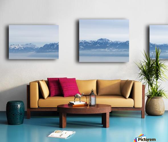 Lake Geneva and Alps Canvas print
