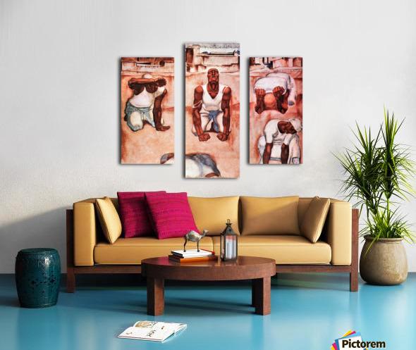 The men by Albin Egger-Lienz Canvas print