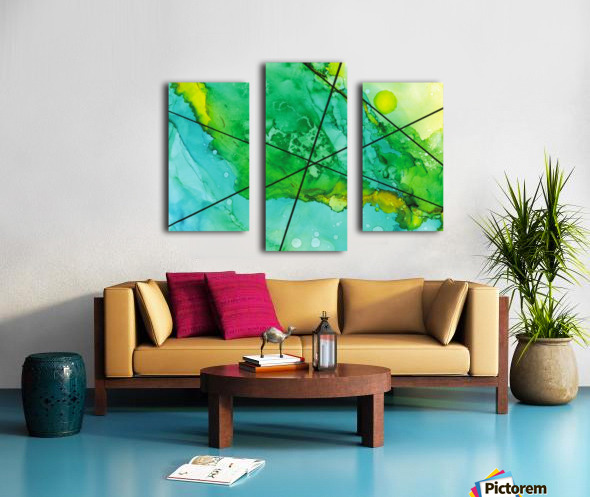 Green under the Lines Canvas print