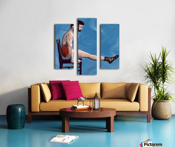 Body Strength Canvas print
