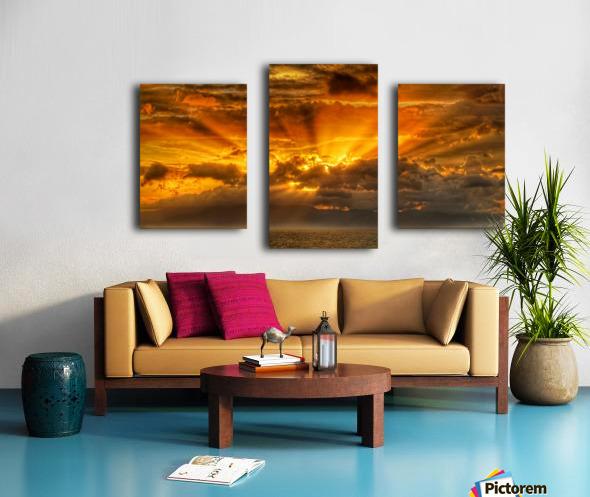 Polynesian Sunrise Canvas print