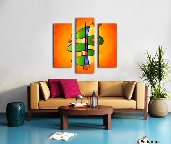 Tessanimia - colourful spring flower Canvas print