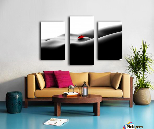 Nude bodyscape on white 1 Canvas print